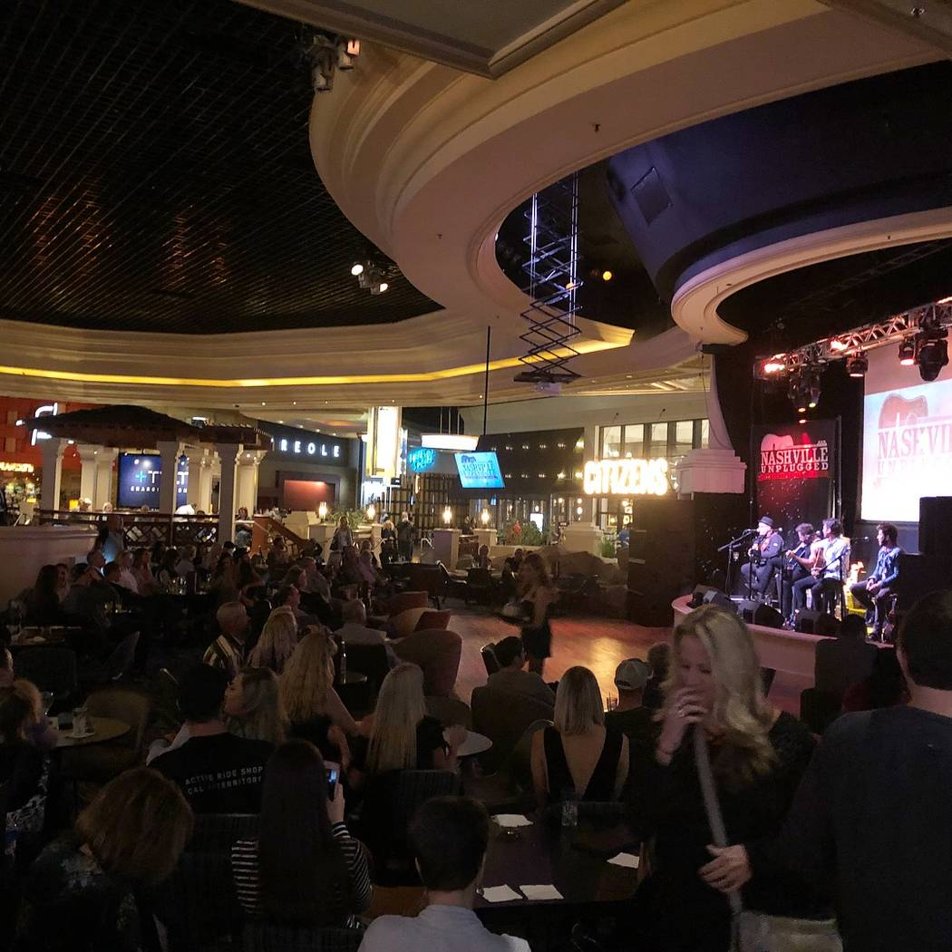 The newly Nashville Unplugged at Rhythm & Riffs Lounge at Mandalay Bay on Friday, March 9, 2018.  (John Katsilometes/Las Vegas Review-Journal) @JohnnyKats)