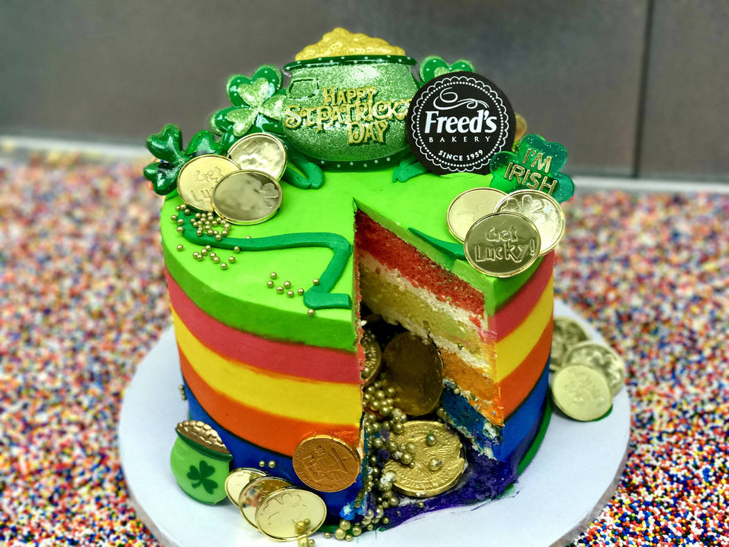 St. Patrick's Day cake at Freed's Bakery