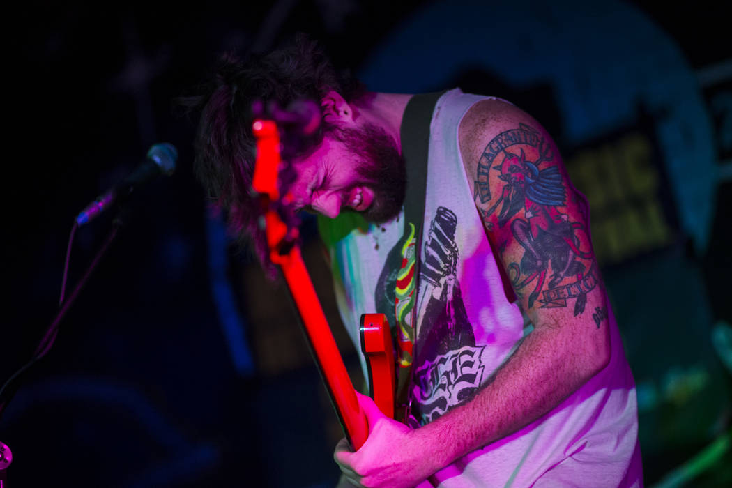 Eric Brown of Tight Fright performs at Beauty Bar during the first night of the Neon Reverb music festival in downtown Las Vegas on Thursday, March 8, 2018. Chase Stevens Las Vegas Review-Journal  ...