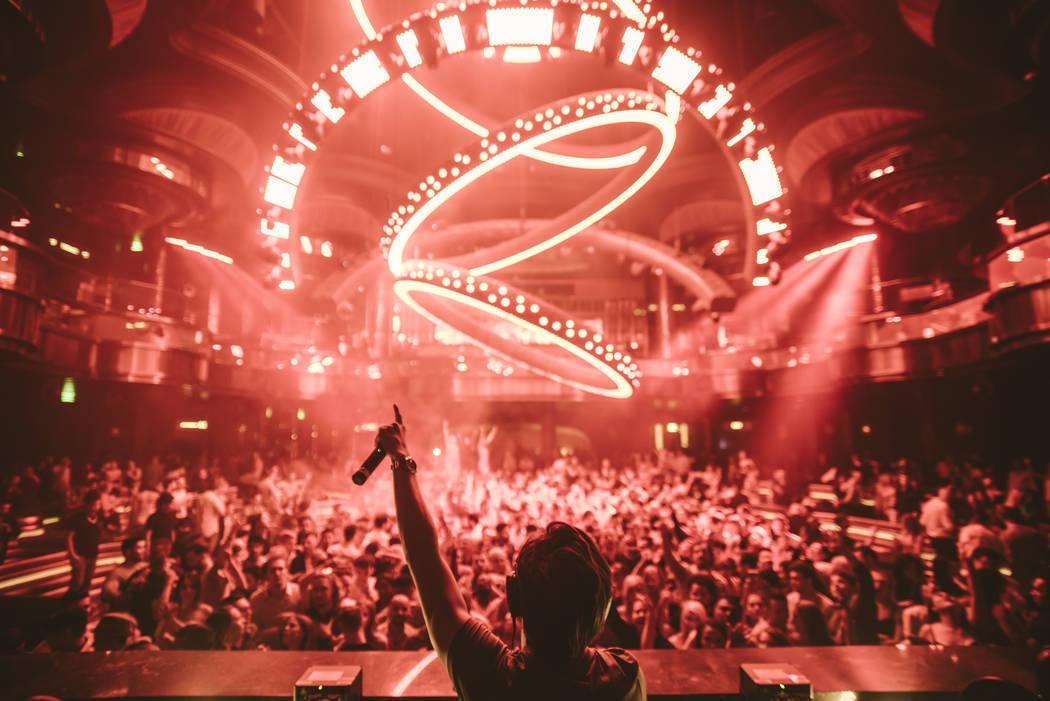 Omnia Nightclub.  Aaron Garcia
