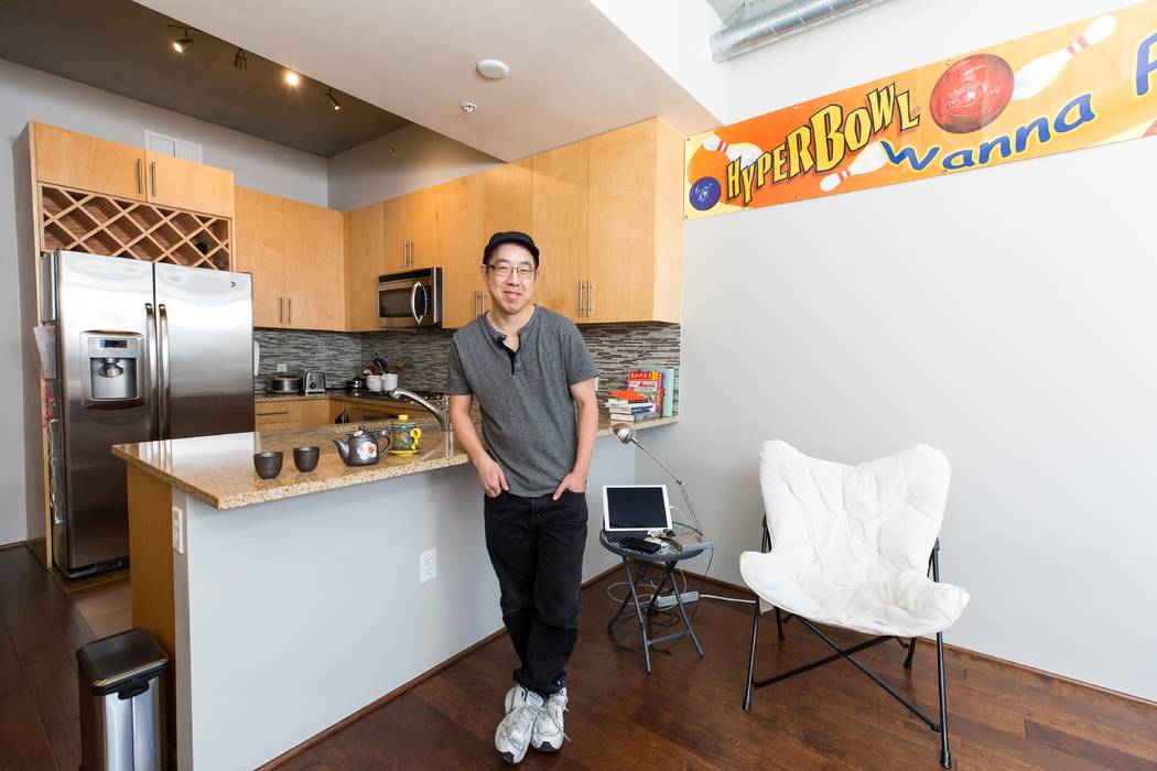 Philip Chu, a seasoned software developer, recently purchased a studio home at Juhl in downtown Las Vegas. Mona (Shield Payne Juhl)