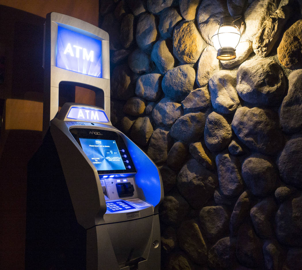 The ATM at Timbers, a bar and grill that also offers video poker, in Henderson on Thursday, March 15, 2018. On Nov. 11, 2016, Henderson Constable Earl Mitchell withdrew $500 out of an ATM, and 19  ...