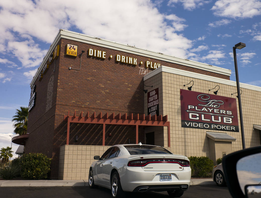 The Players Club, a bar with video poker, in Henderson on Wednesday, March 14, 2018. Henderson Constable Earl Mitchell withdrew $103 there on Jan. 4, 2016. Chase Stevens Las Vegas Review-Journal @ ...