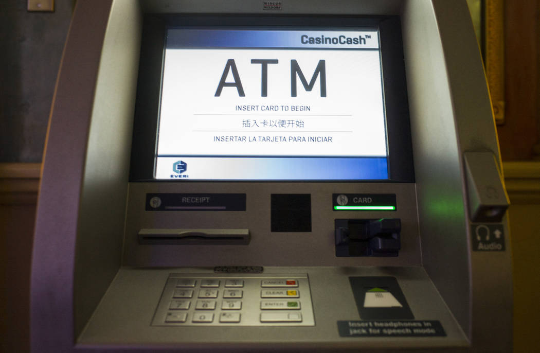 The ATM at Sunset Station where Henderson Constable Earl Mitchell withdrew $100 last November, in Henderson on Wednesday, March 14, 2018. Chase Stevens Las Vegas Review-Journal @csstevensphoto