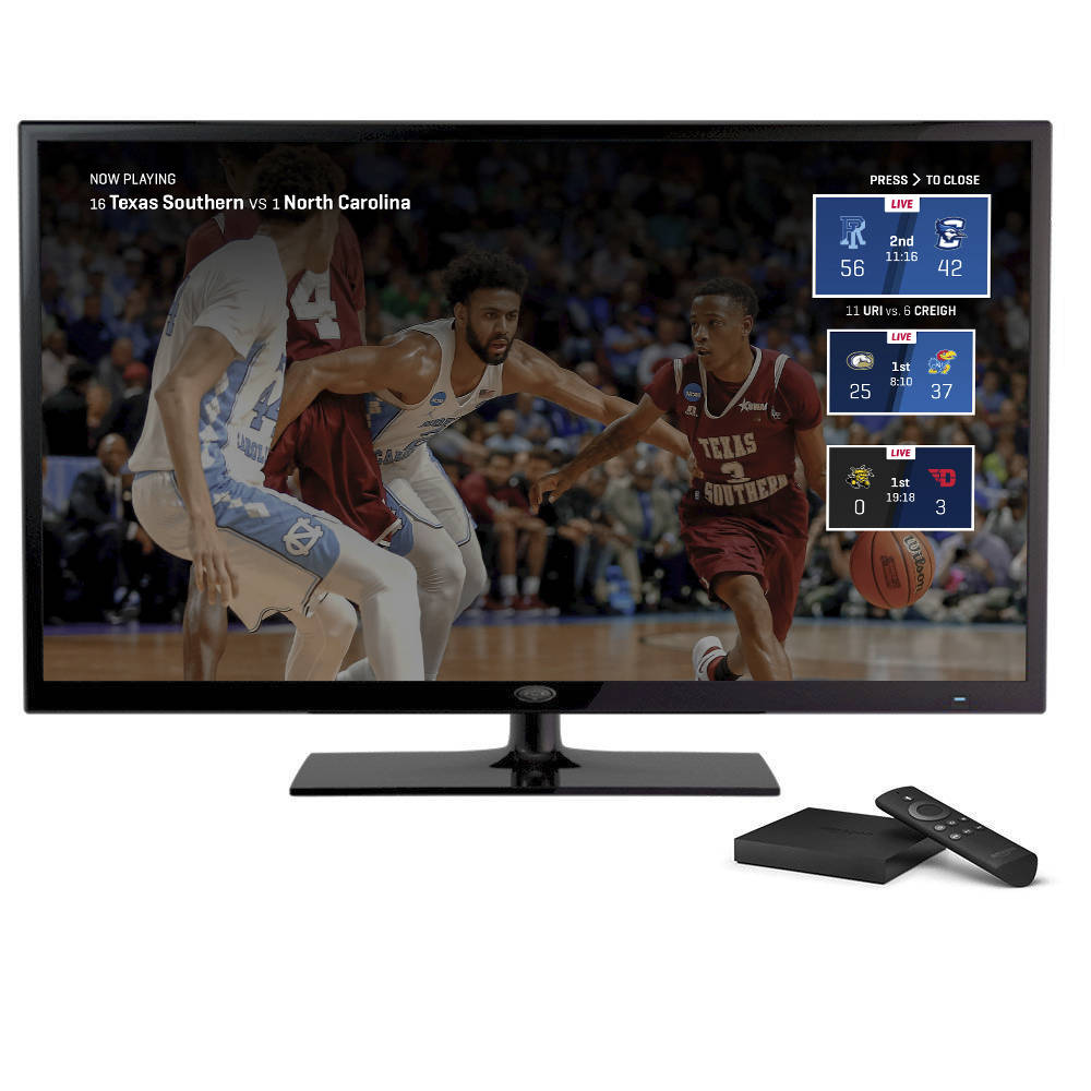 This undated product image provided by Turner Broadcasting System, Inc., shows the March Madness Live service on Amazon's Fire TV, with a feature for easily switching between games. The men ...