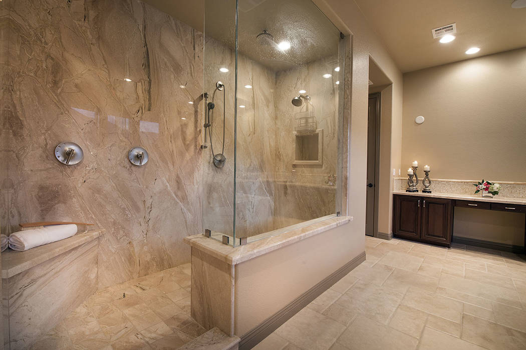 The shower in the master bath. (Synergy/Sotheby's International Realty)