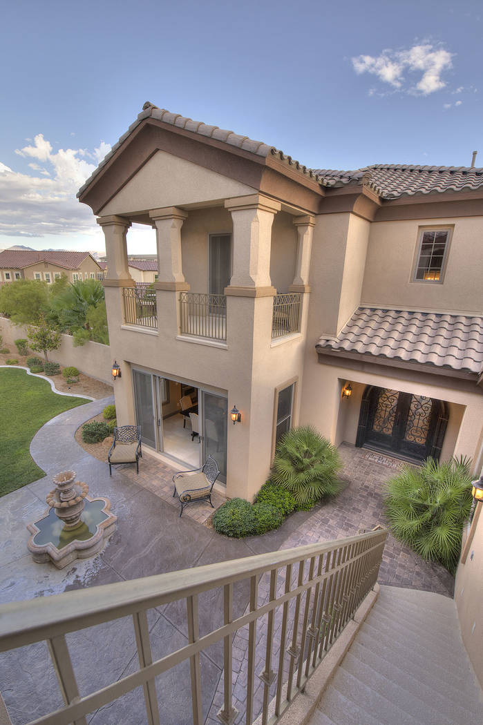 This 5,896-square foot home in Southern Highlands Tuscan Cliffs has been listed for nearly $1.6M. (Synergy/Sotheby's International Realty)