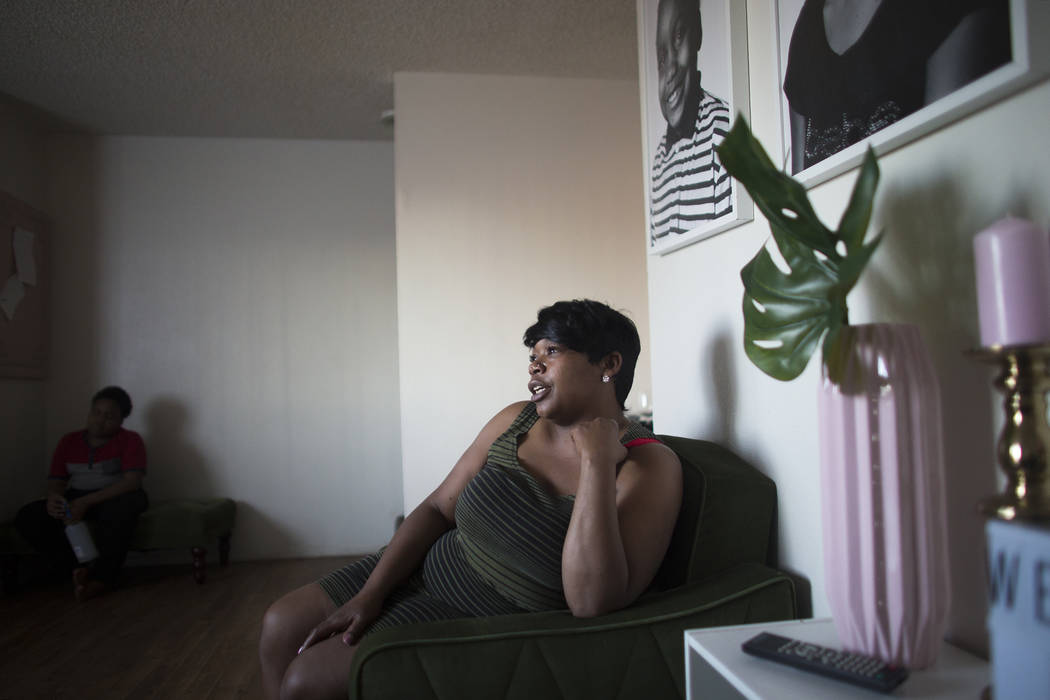 Jacenta Harris at her home in Las Vegas, Wednesday, March 14, 2018. (Rachel Aston Las Vegas Review-Journal @rookie__rae)