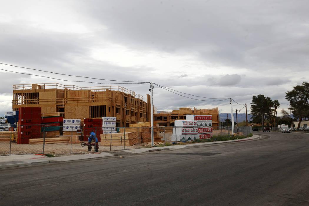 The new Rose Gardens public housing complex under construction in North Las Vegas, Thursday, March 22, 2018. Rachel Aston Las Vegas Review-Journal @rookie__rae
