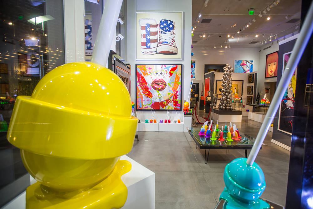 The Elena Bulatova Gallery in The Shops at Crystals in Las Vegas on Friday, March 23, 2018. The gallery is one of the first shops on the Strip to accept cryptocurrencies. Todd Prince Las Vegas Rev ...