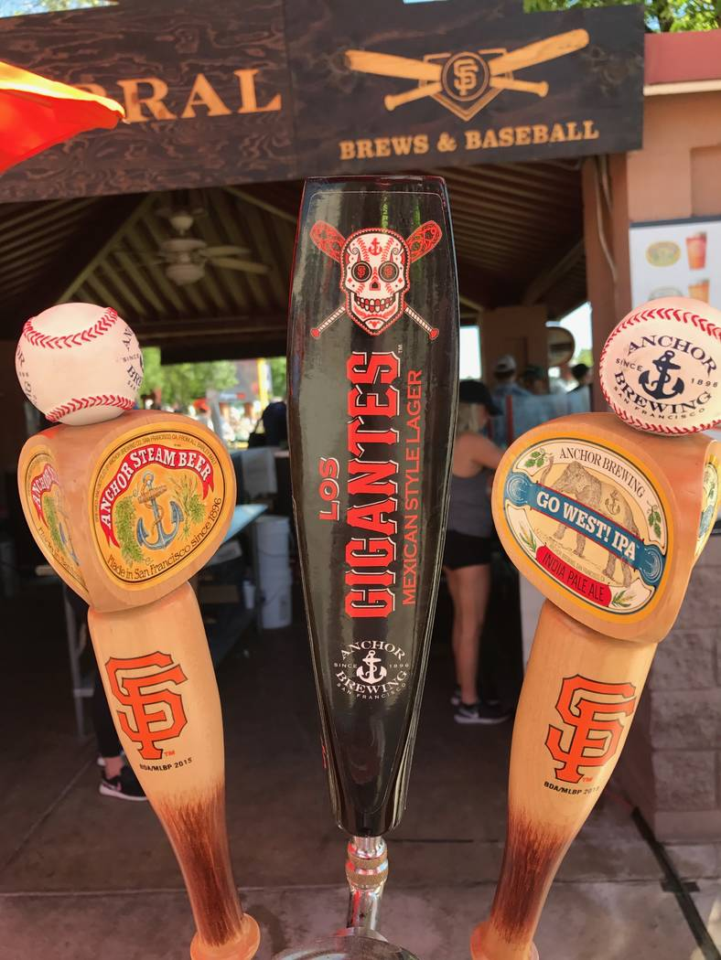 Beer taps at Peoria Stadium in Arizona. Bill Bradley Las Vegas Review-Journal