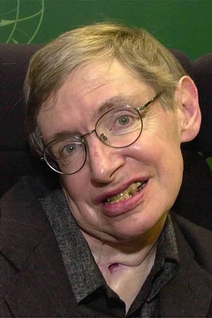 Famed cosmologist Stephen Hawking is seen at the Centre for Mathematical Sciences, at the University of Cambridge, England, Friday, Jan. 11, 2002. (AP Photo/Richard Lewis)