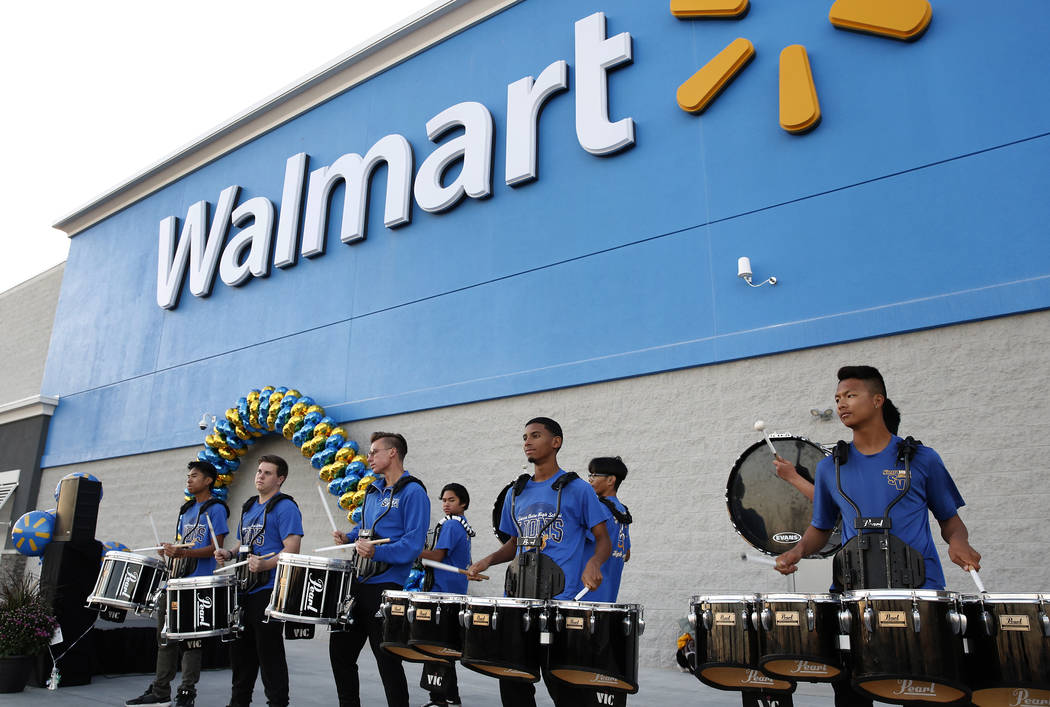Thr 165,000 square-foot store that opened in November at Blue Diamond and Rainbow Boulevard was the first new Walmart Supercenter to open in Las Vegas in nine years. Bizuayehu Tesfaye/Las Vegas Re ...