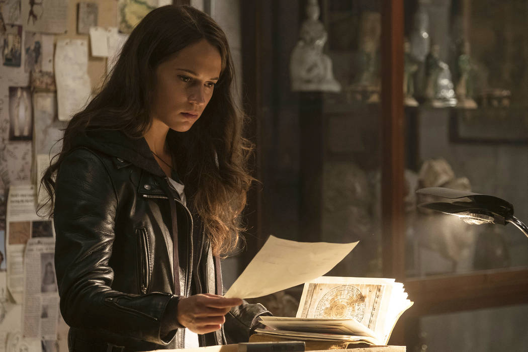 "This image released by Warner Bros. Pictures shows Alicia Vikander in a scene from ""Tomb Raider."" (Ilze Kitshoff/Warner Bros. Pictures via AP)"