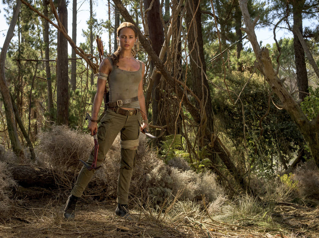 "This image released by Warner Bros. Pictures shows Alicia Vikander in a scene from ""Tomb Raider."" (Graham Bartholomew/Warner Bros. Pictures via AP)"