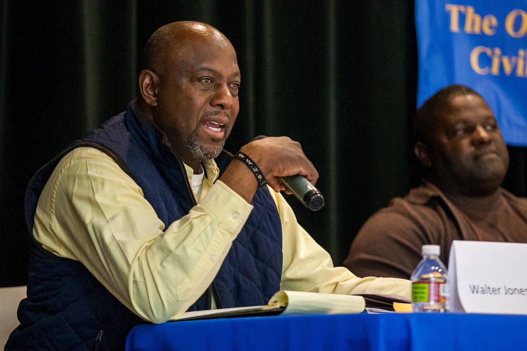 Candidate Walter Jones III speaks during a Ward 5 candidate forum at Democracy Prep at the Agassi Campus in Las Vegas on Saturday, March 10, 2018.  Patrick Connolly Las Vegas Review-Journal @PConnPie