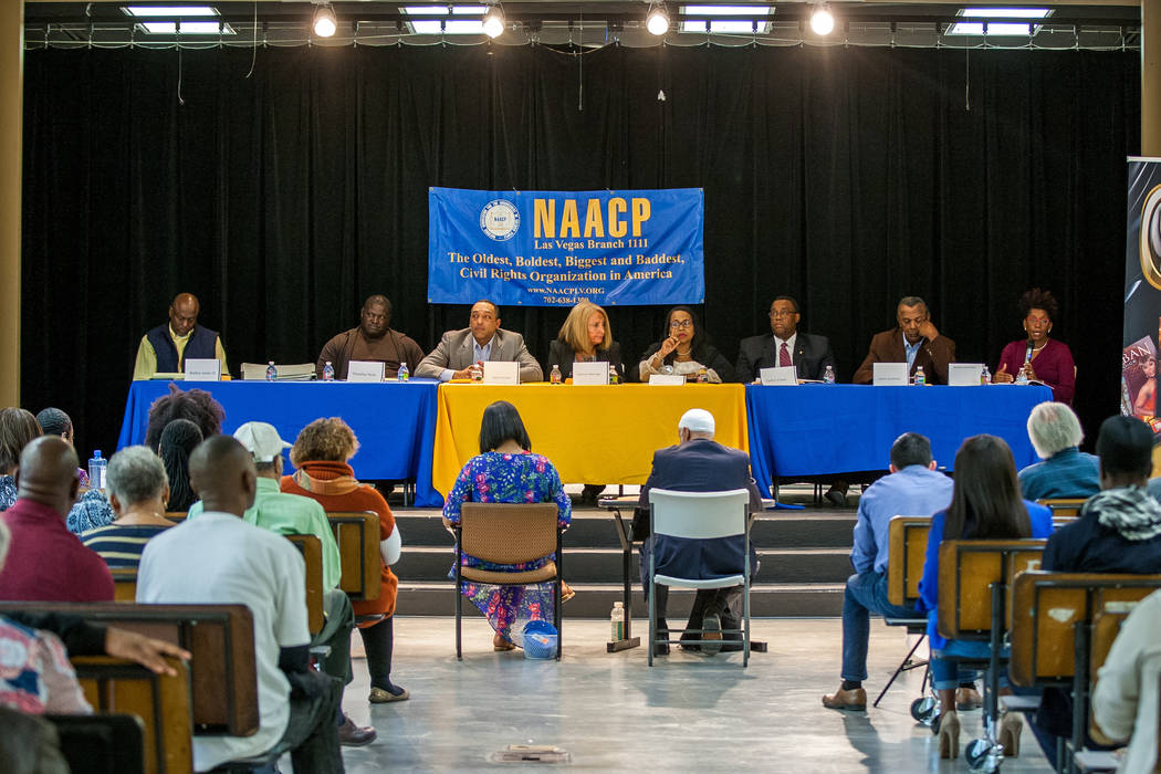 Ward 5 candidates for Las Vegas City Council during a Ward 5 candidate forum at Democracy Prep at the Agassi Campus in Las Vegas on Saturday, March 10, 2018.  Patrick Connolly Las Vegas Review-Jou ...