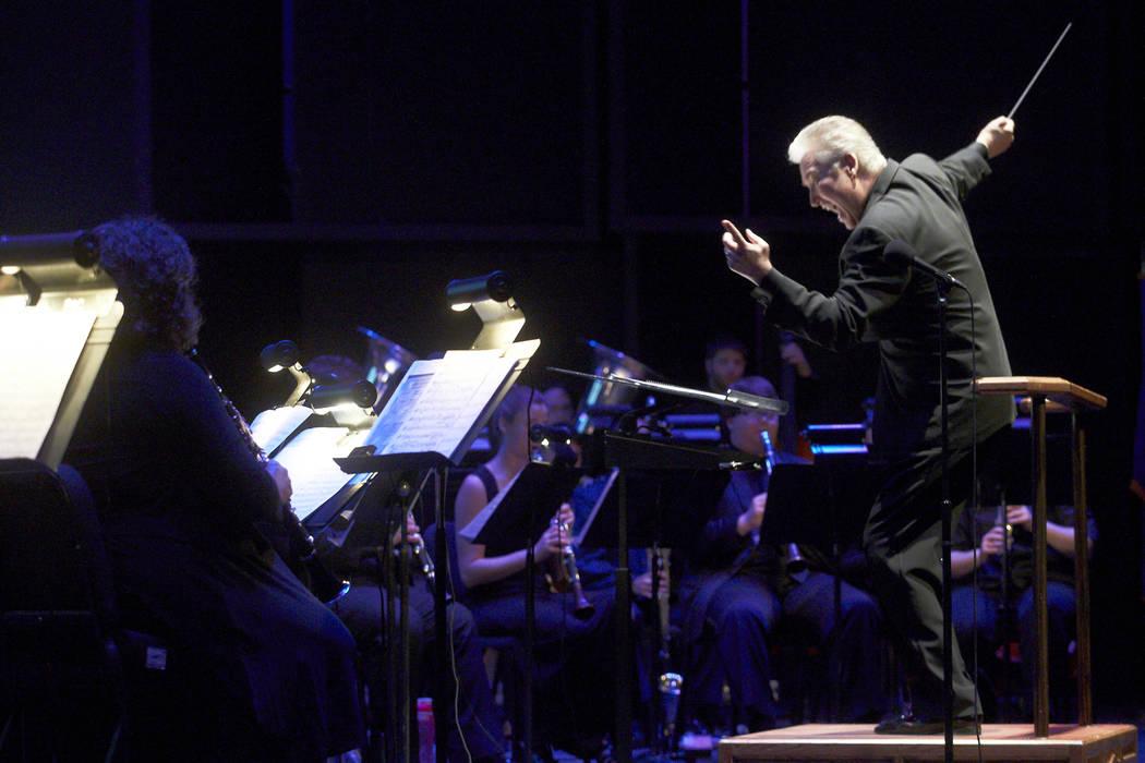 Tom Leslie Tom Leslie, UNLV professor of conducting, leads the UNLV Wind Orchestra.