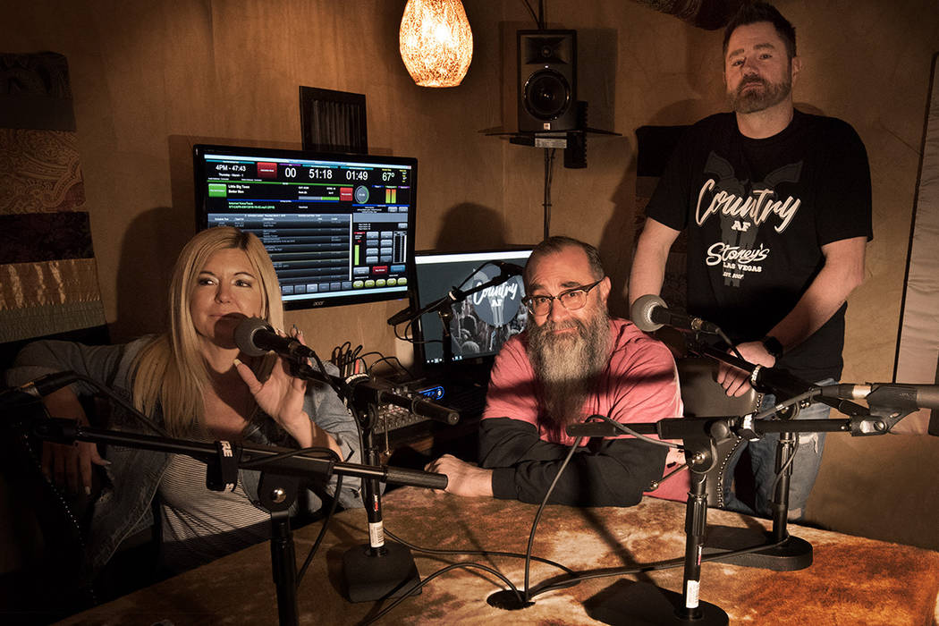 """Kris Daniels, Chris Lowden and Jeff """"Toad"""" Higginbotham aim to bring fresh sounds to country radio. (Gian Sapienza)"""