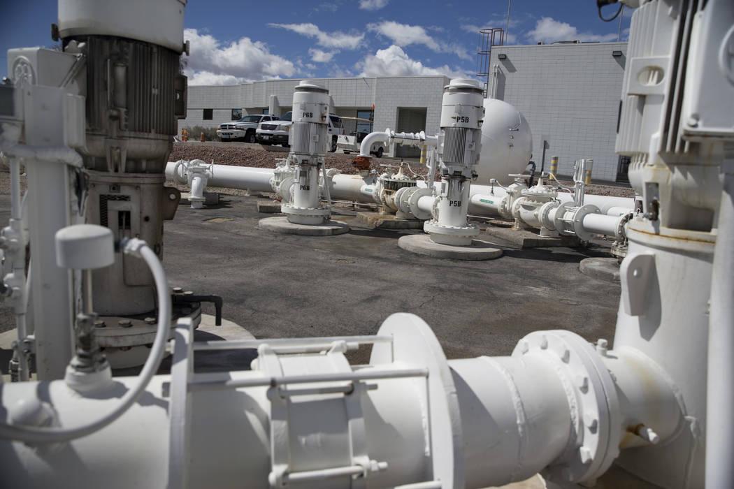 The Charleston Boulevard Pumping Station at the Las Vegas Valley Water District headquarters in Las Vegas, Thursday, March 15, 2018. Erik Verduzco Las Vegas Review-Journal @Erik_Verduzco