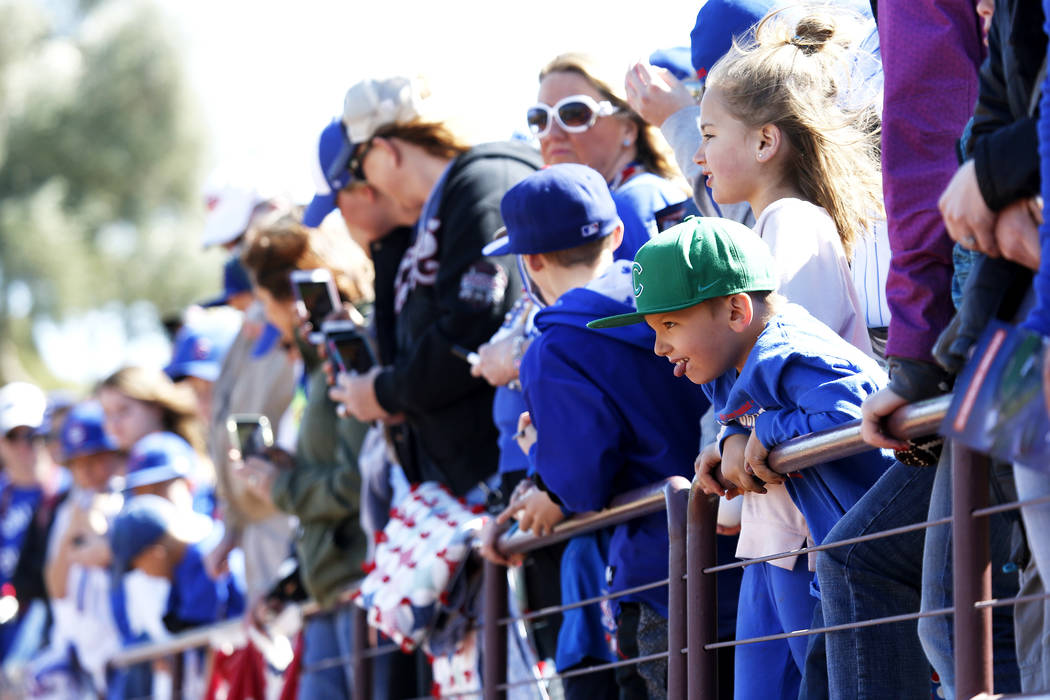 Fans attend the annual Big League Weekend baseball game at Cashman Field in Las Vegas on Sunday, March 18, 2018. Andrea Cornejo Las Vegas Review-Journal @DreaCornejo