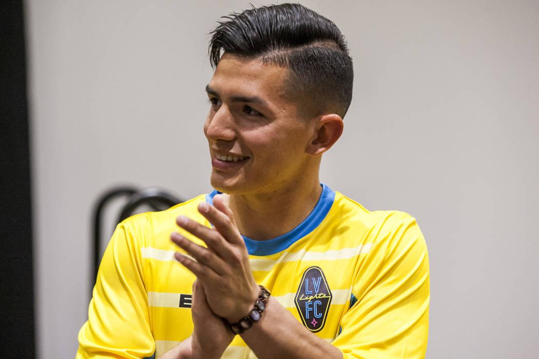 Las Vegas Lights FC goalkeeper Angel Alvarez (22). (Patrick Connolly Las Vegas Review-Journal @PConnPie) *Age: 20 *Hometown: Las Vegas, Nevada *Previous Club/Team: Laramie County Community College ...