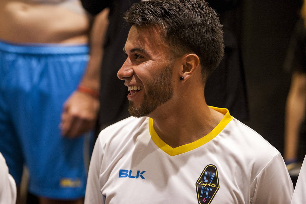 Las Vegas Lights FC midfielder Carlos Alvarez (7). (Patrick Connolly Las Vegas Review-Journal @PConnPie) *Age: 27 *Hometown: Los Angeles, California *Previous Club/Team: Orange County SC (USL) *No ...