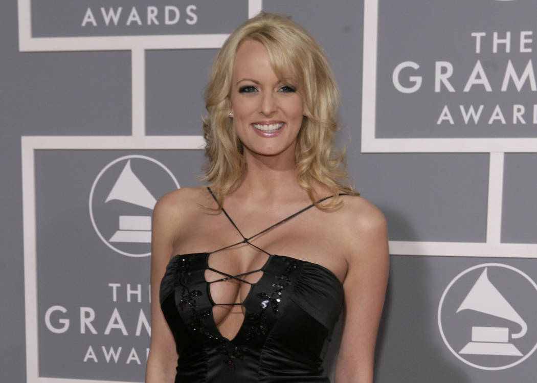 Adult film actress Stormy Daniels arrives for the 49th Annual Grammy Awards in Los Angeles in this Feb. 11, 2007, file photo. New documents show a top lawyer for the Trump Organization was involve ...