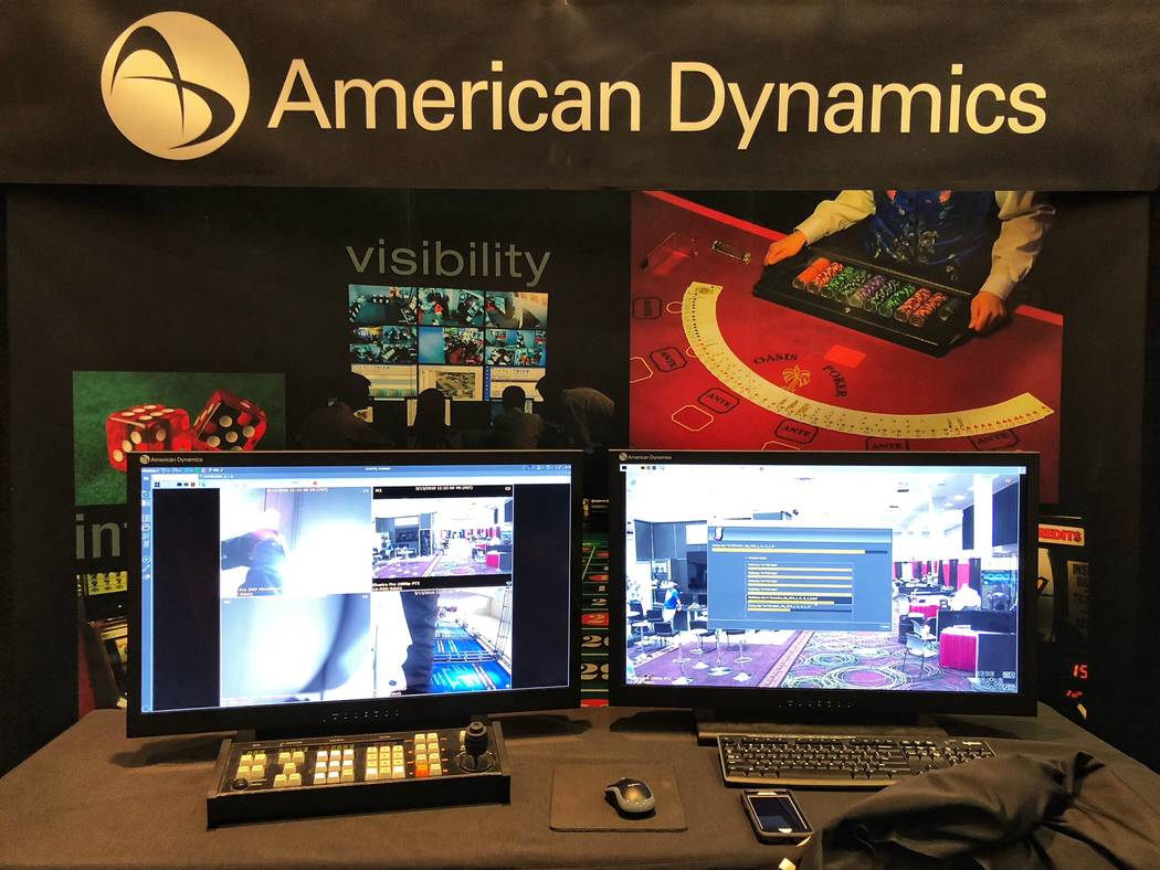 American Dynamics, seen Thursday, March 15, 2018, in Las Vegas was among the nearly 40 exhibitors at World Game Protection Conference at Bally's. (Todd Prince/Las Vegas Review-Journal)