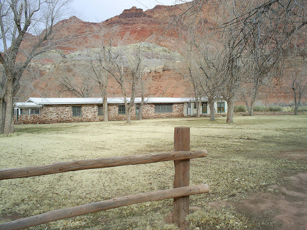 The main ranch house at Lonely Dell Ranch Historic Site. (Deborah Wall)