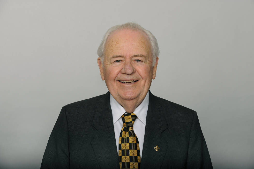 This June 17, 2016, file photo shows Tom Benson of the New Orleans Saints NFL football team. Benson, a successful auto dealer who brought the New Orleans Saints their only winning seasons and the  ...