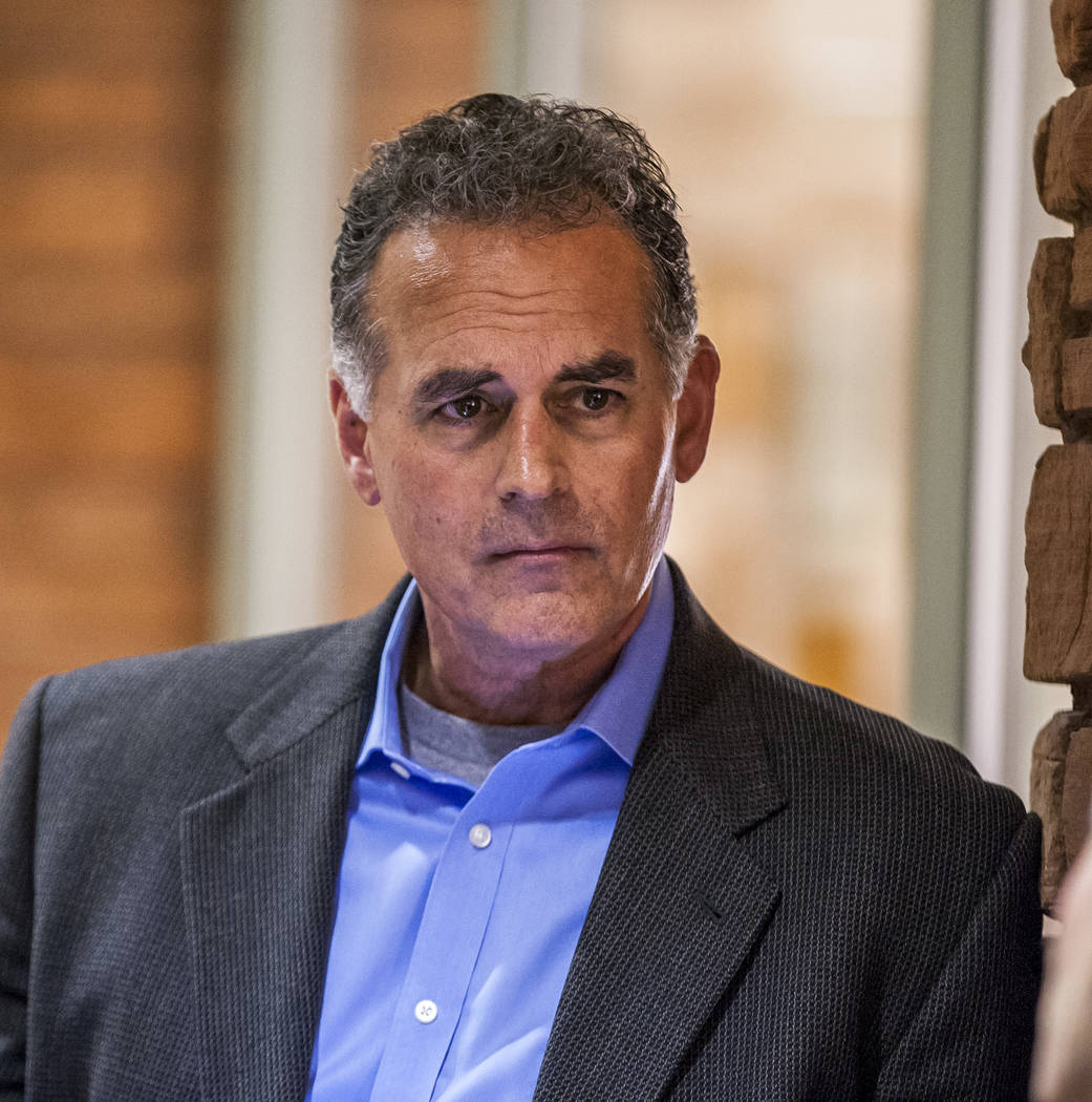 Danny Tarkanian before filing for his candidacy for the 3rd Congressional District of Nevada at the Clark County Government Center in Las Vegas on Friday, March 16, 2018, after dropping out of the ...