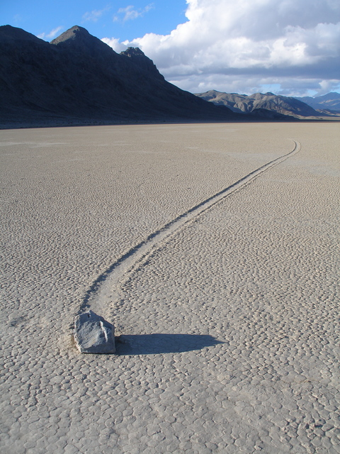 Racetrack Playa, Death Valley, 2008. (Henry Brean/Las Vegas Review-Journal)