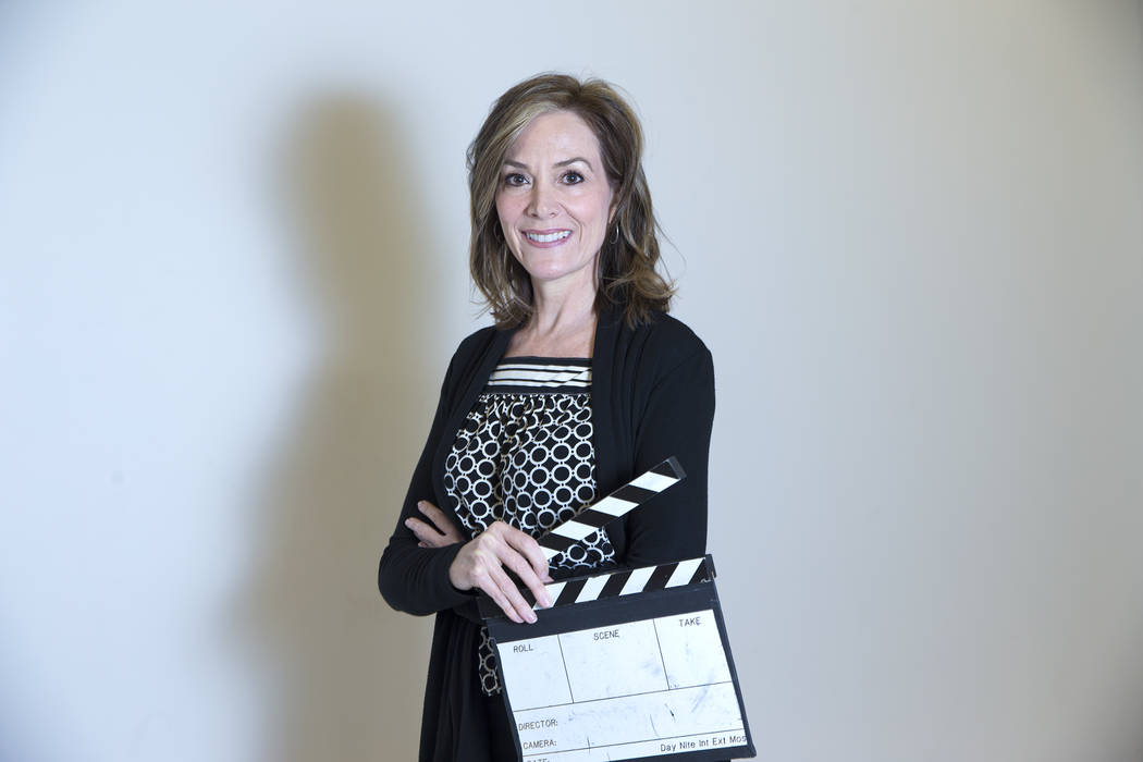 Nikki Corda, the executive director and founder of the Nevada Women's Film Festival, at Nevada State College in Henderson, Tuesday, March 20, 2018. Corda also teaches in the visual media and human ...