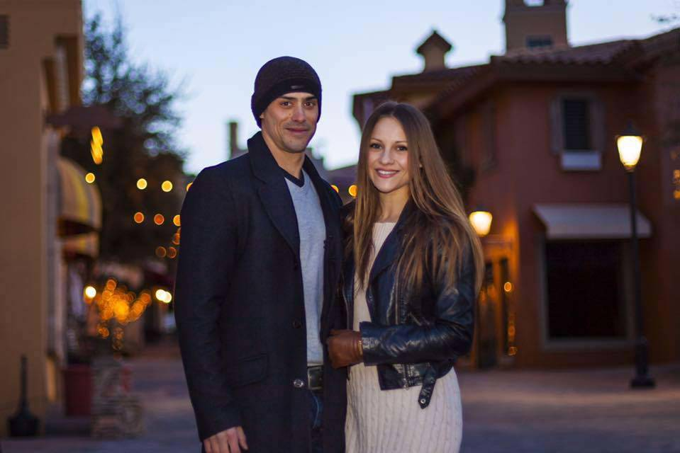 Yann Arnaud is shown with his wife, Inna Gorelova, in a photo posted to his Facebook page in January 2016. (Facebook)