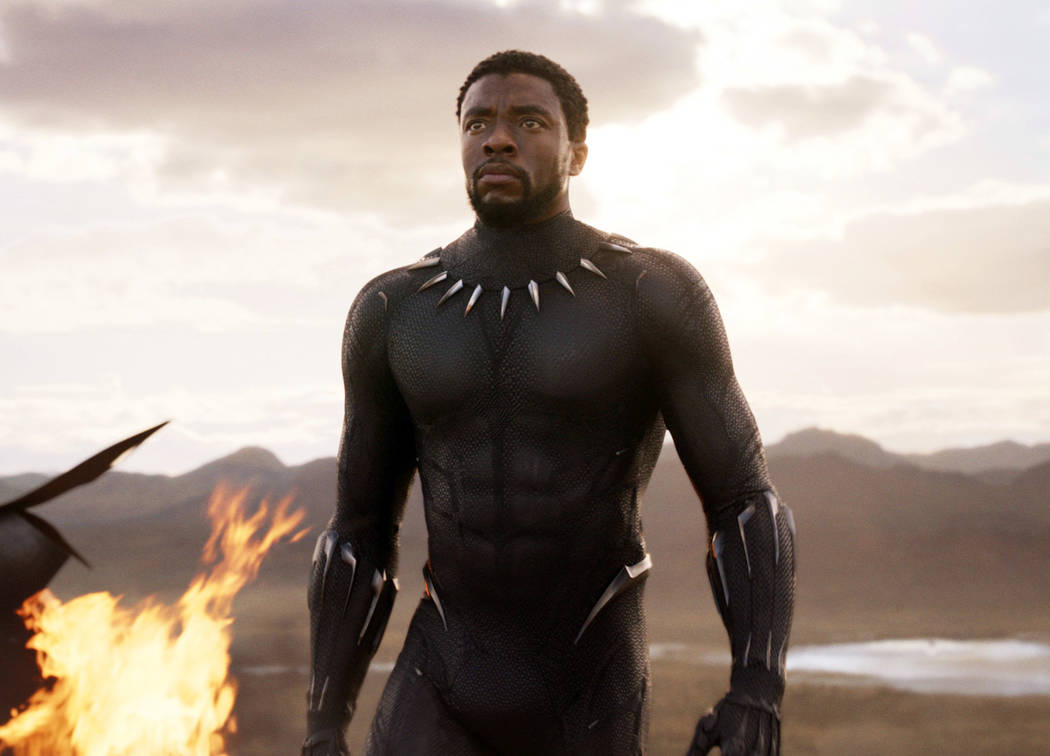 "Chadwick Boseman in a scene from ""Black Panther."" ""Black Panther"" has become the first film since 2000's ""Avatar"" to top the weekend box office five straight weekends. According to studi ..."