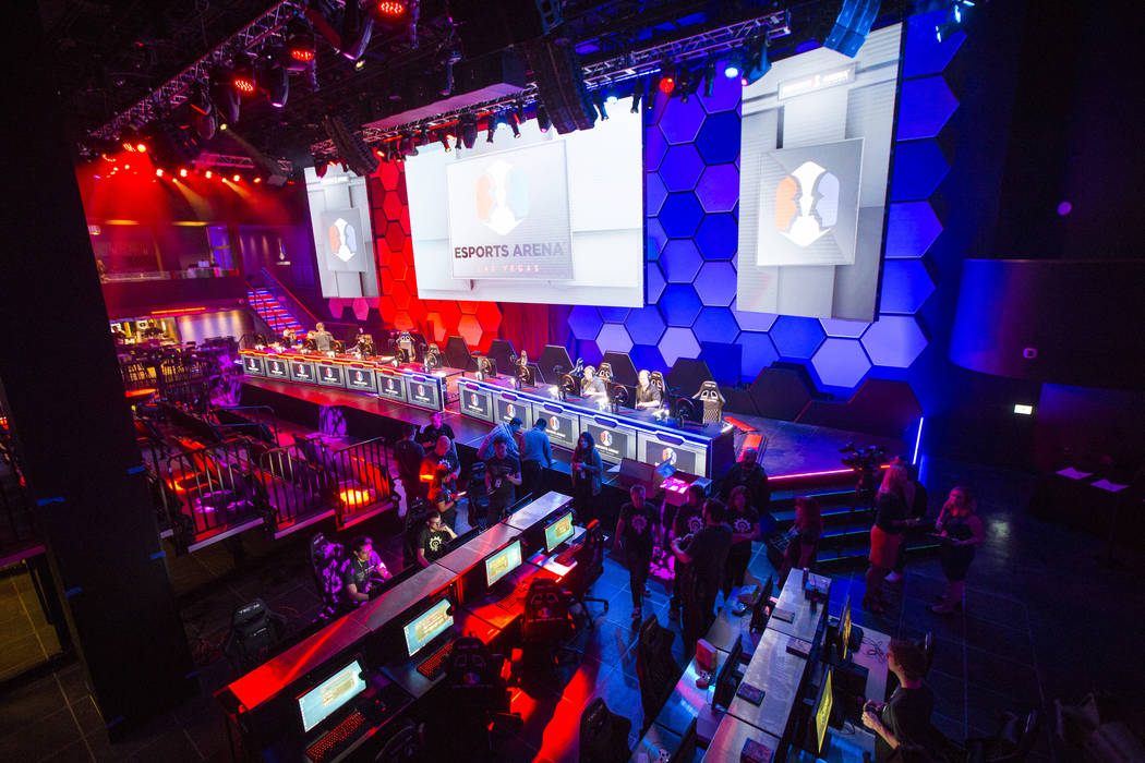 The interior at the Esports Arena hours before the grand opening at the Luxor in Las Vegas on Thursday, March 22, 2018. Chase Stevens Las Vegas Review-Journal @csstevensphoto