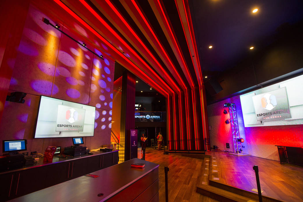 The entrance to Esports Arena Las Vegas hours before the grand opening at the Luxor in Las Vegas on Thursday, March 22, 2018. Chase Stevens Las Vegas Review-Journal @csstevensphoto