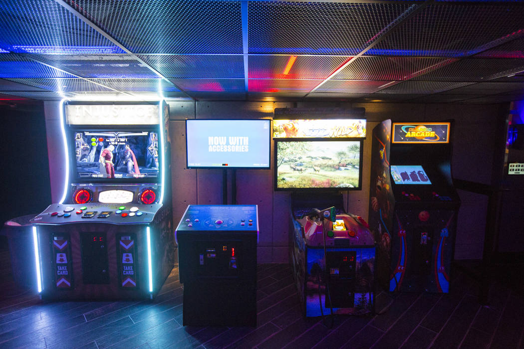 An arcade gaming area at Esports Arena Las Vegas hours before the grand opening at the Luxor in Las Vegas on Thursday, March 22, 2018. Chase Stevens Las Vegas Review-Journal @csstevensphoto