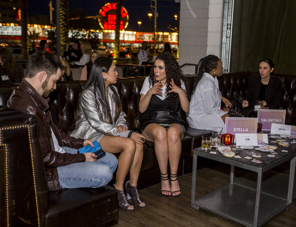 Attendees talk about their closets at a Posh Party LIVE event at SLS Las Vegas on Tuesday, March 20, 2018.  Patrick Connolly Las Vegas Review-Journal @PConnPie