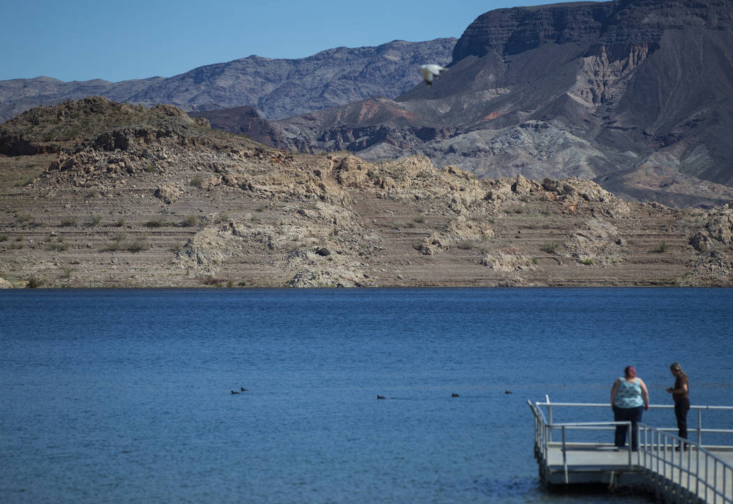 A view of Boulder Basin from Boulder Beach at Lake Mead National Recreation Area on Monday, March 19, 2018. (Chase Stevens/Las Vegas Review-Journal) @csstevensphoto