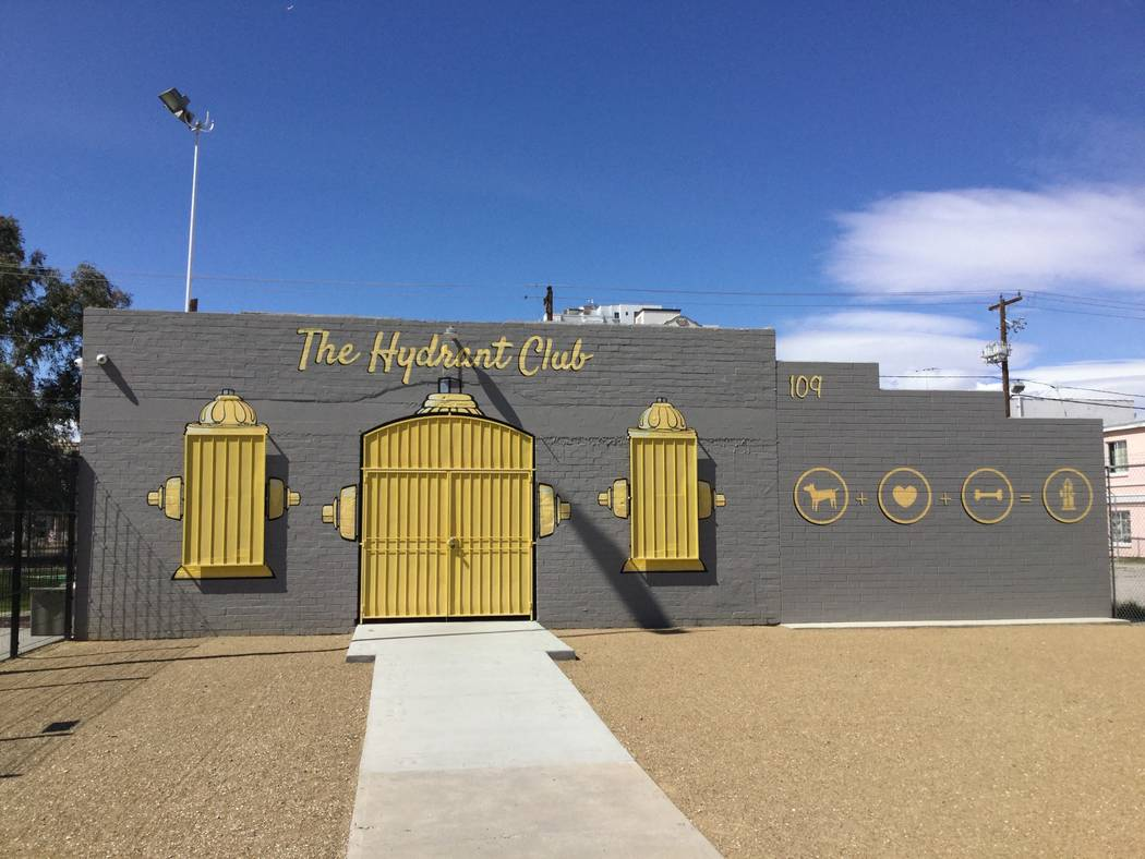The Hydrant Club, as seen Wednesday, March 15, 2018 in Las Vegas, is an education facility that offers services to dog owners including day care and overnight boarding. (Nicole Raz/Las Vegas Revie ...