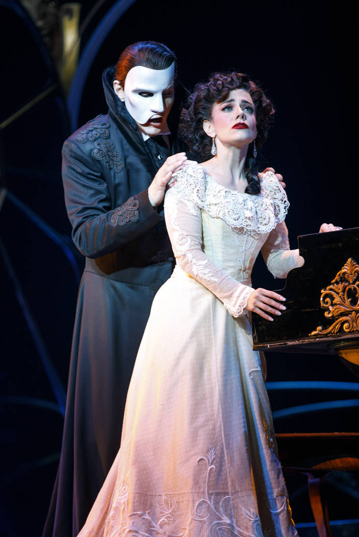 "Joan Marcus  Gardar Thor Cortes (as the Phantom) and Meghan Picerno (as Christine Daae) star in ""Love Never Dies,"" the ""Phantom of the Opera"" sequel opening March 20 at The Smith Center."