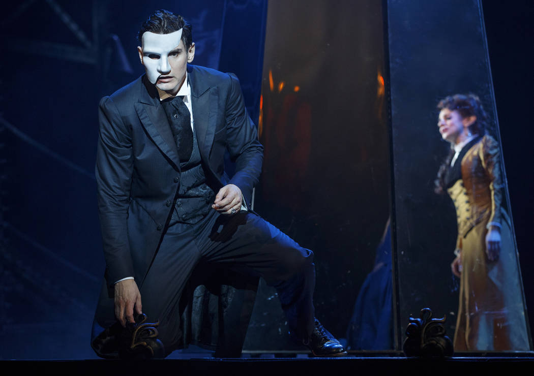 """The Phantom (Gardar Thor Cortes) and Christine Daae (Meghan Picerno) in """"Love Never Dies,"""" the """"Phantom of the Opera"""" sequel, which opens March 20 at The Smith Center."""