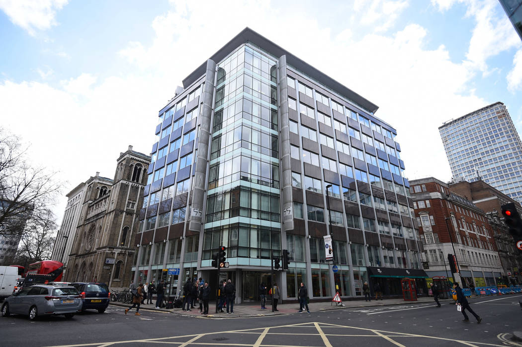 The offices of Cambridge Analytica (CA) in central London, after it was announced that Britain's information commissioner Elizabeth Denham is pursuing a warrant to search Cambridge Analytica's com ...
