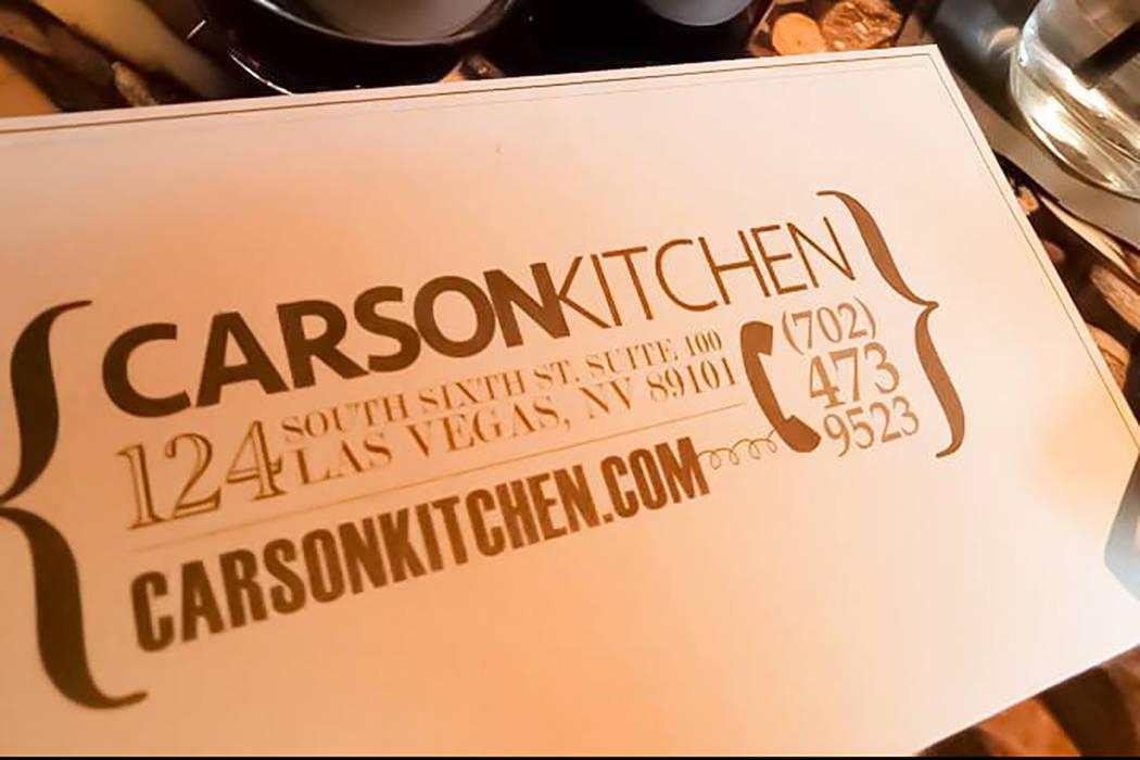 Carson Kitchen. Facebook
