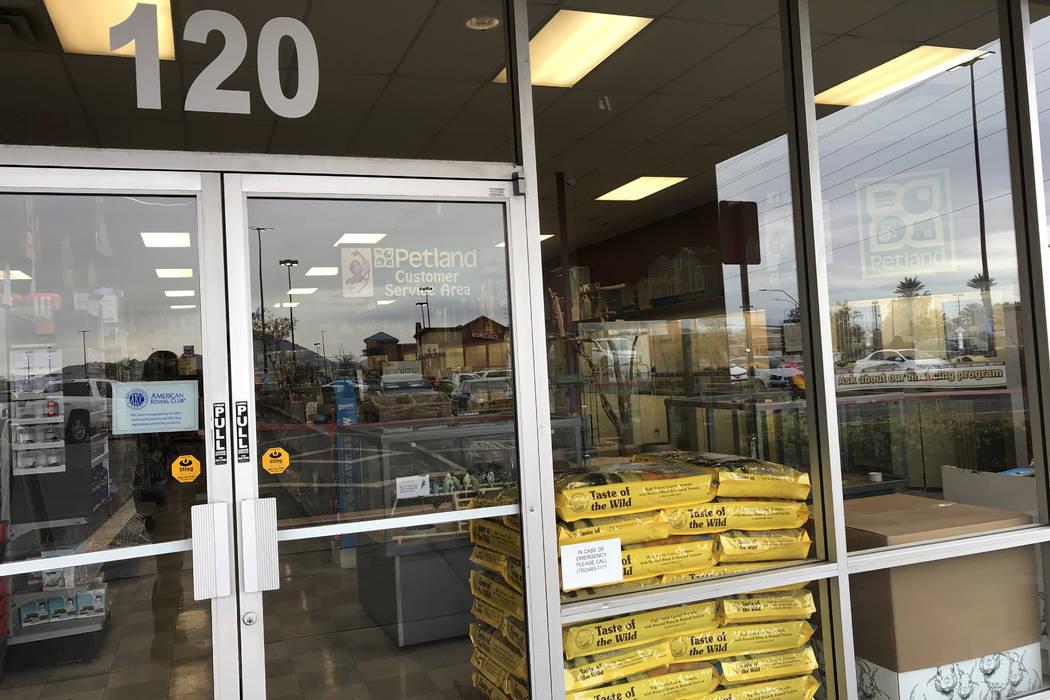 Petland, 510 Marks St. No. 120, in Henderson, Friday, March 22, 2018. Sandy Lopez Las Vegas Review-Journal @JournalismSandy