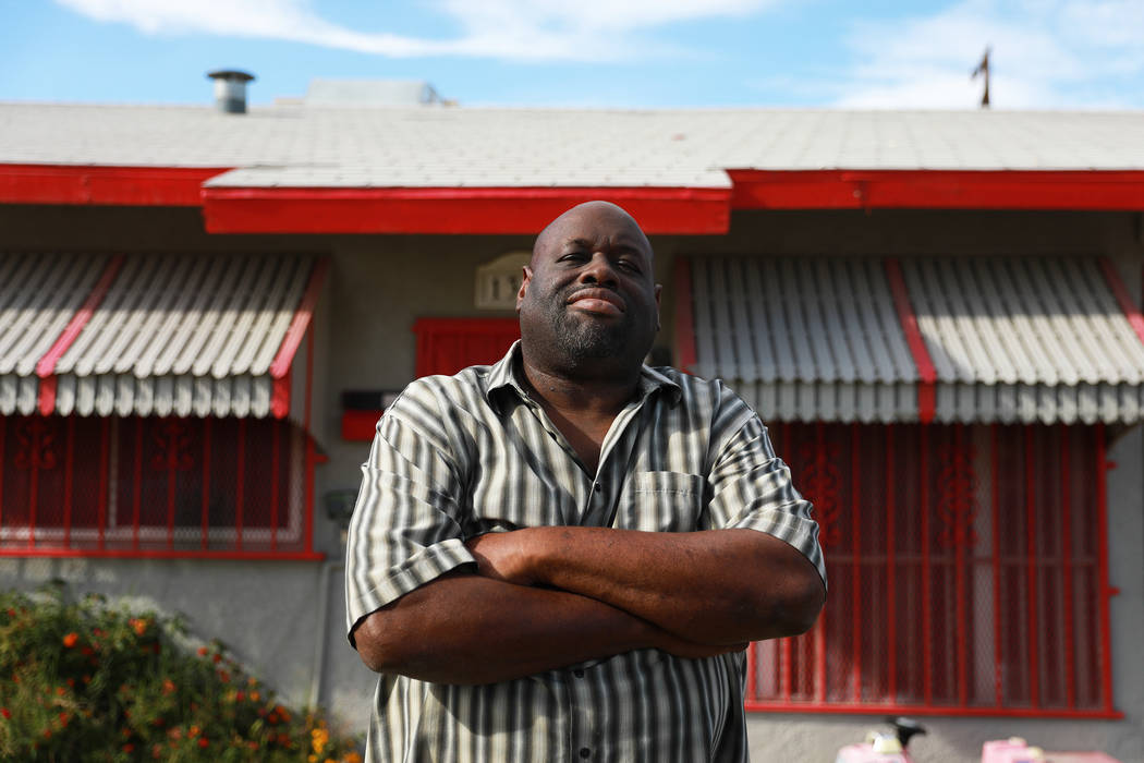 Howard Williams, 53, poses for a photograph in front of his home, where he was born and raised, in Las Vegas on Thursday, March 29, 2018. Andrea Cornejo Las Vegas Review-Journal @dreacornejo