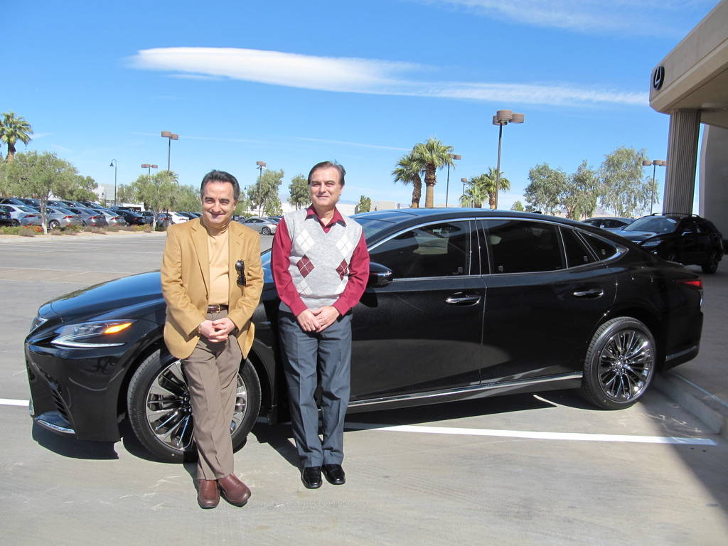 Lexus of Henderson Varuzham Adamyan, left, and his brother, Sarkis, recently purchased their third Lexus LS, a 2018 LS 500, from Lexus of Henderson.