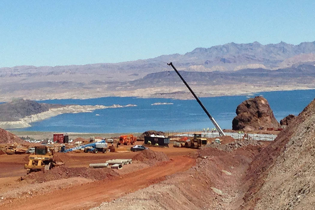 Construction continues on Interstate 11 near Boulder City. (Nevada Department of Transportation)